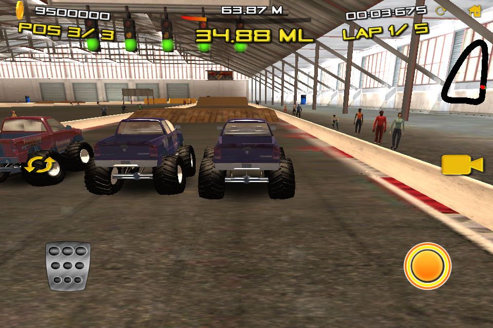 Monster Truck Indoor Racing Top Free IOS Games