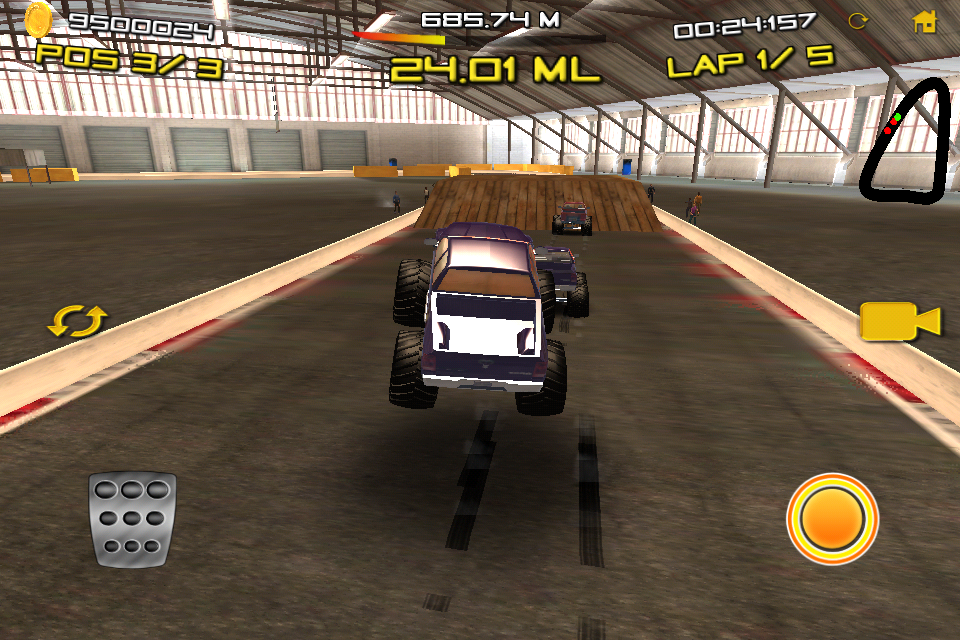 Monster Truck Indoor Racing for IOS