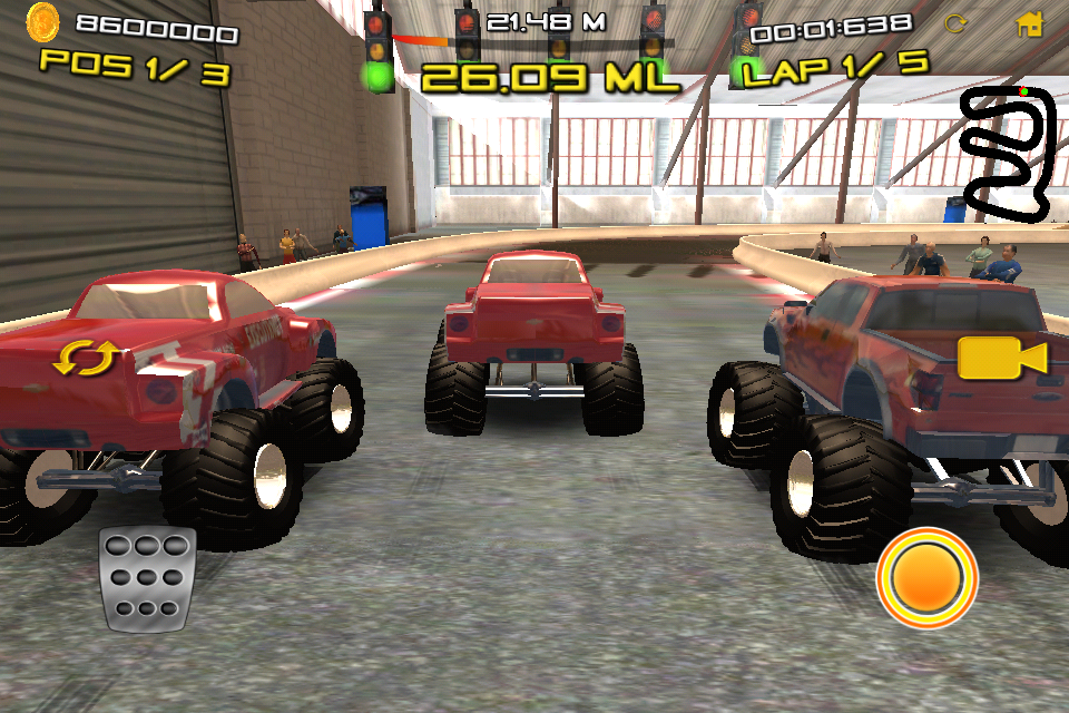 Monster Truck Indoor Racing for iPhone
